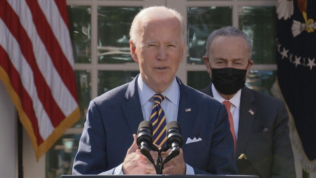 "Biden Celebrates ""american Rescue Plan"""