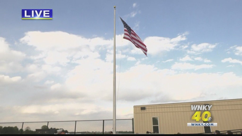 First Flag Raised At The Bowling Green Warren County Regional Airport