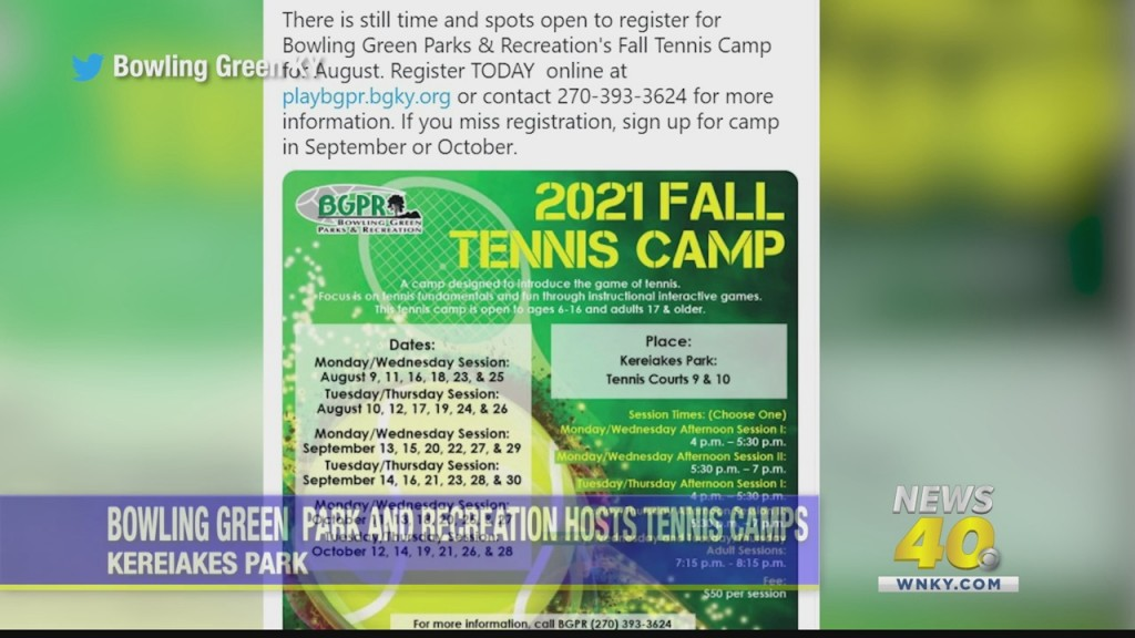 Bowling Green Park And Recreation Offer Tennis Camps
