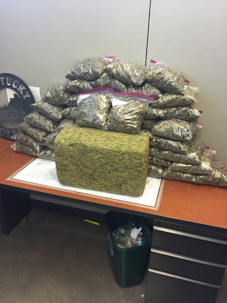 Estimated 100-pounds of marijuana seized during traffic stop on US 25 in Madison County 6-8-16 Celio Mendoza charged