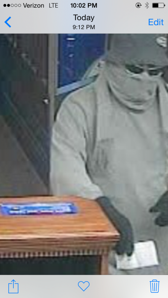 Fifth Third Bank attempted bank robbery suspect in Nicholasville on 3-24-16