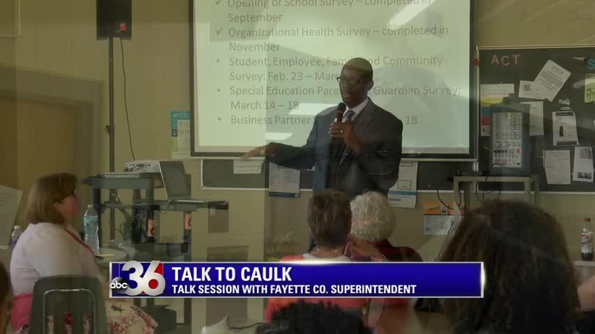"Fayette County Schools Superintendent Manny Caulk holds 'Talk to Caulk' public ""input"" session at Dunbar High 3-15-16"