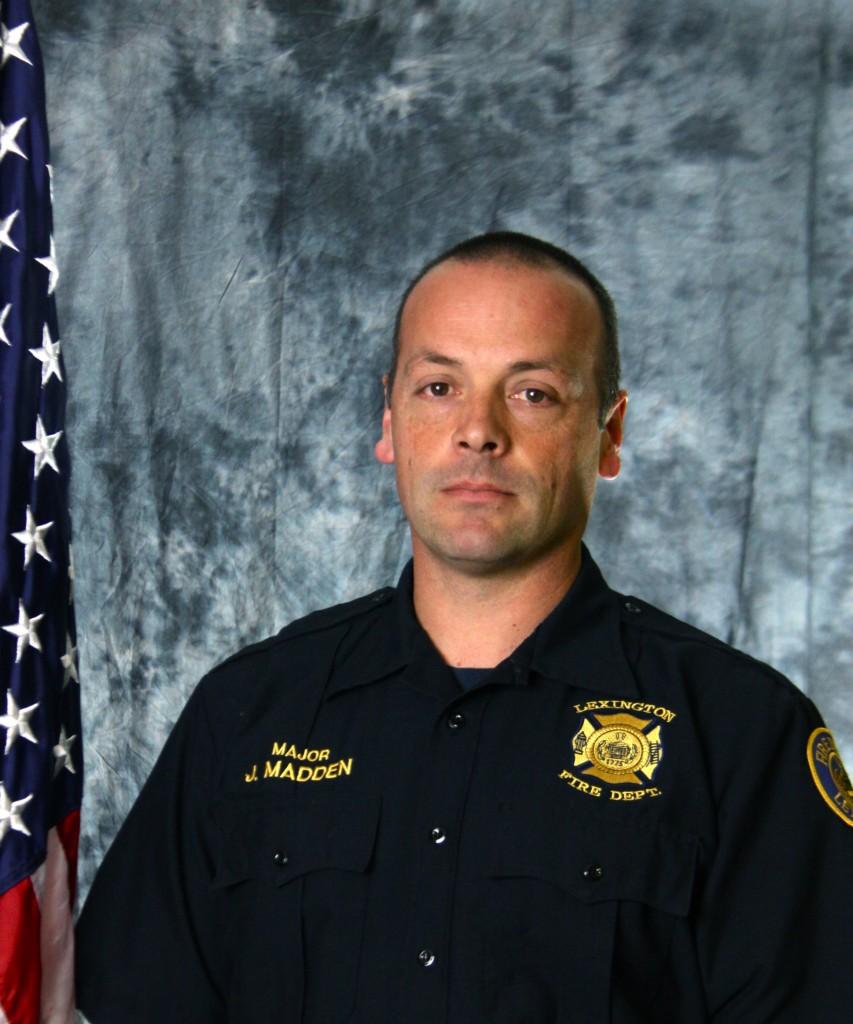 Lexington Fire Department Major Joe Madden