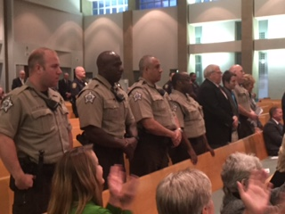Law Enforcement officers in Lexington were honored by the community for their service at Centenary United Methodist Church on 10-29-15