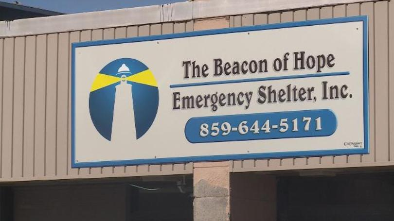 Winchester Beacon of Hope Emergency Shelter sign