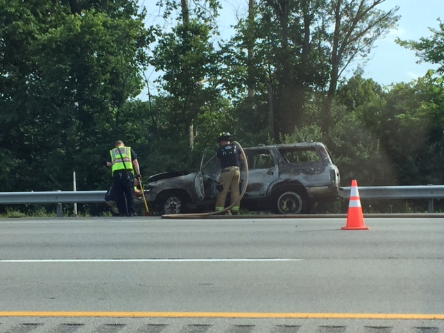 Vehicle fire southbound I-75 in Fayette County near Exit 115 on 7-10-17