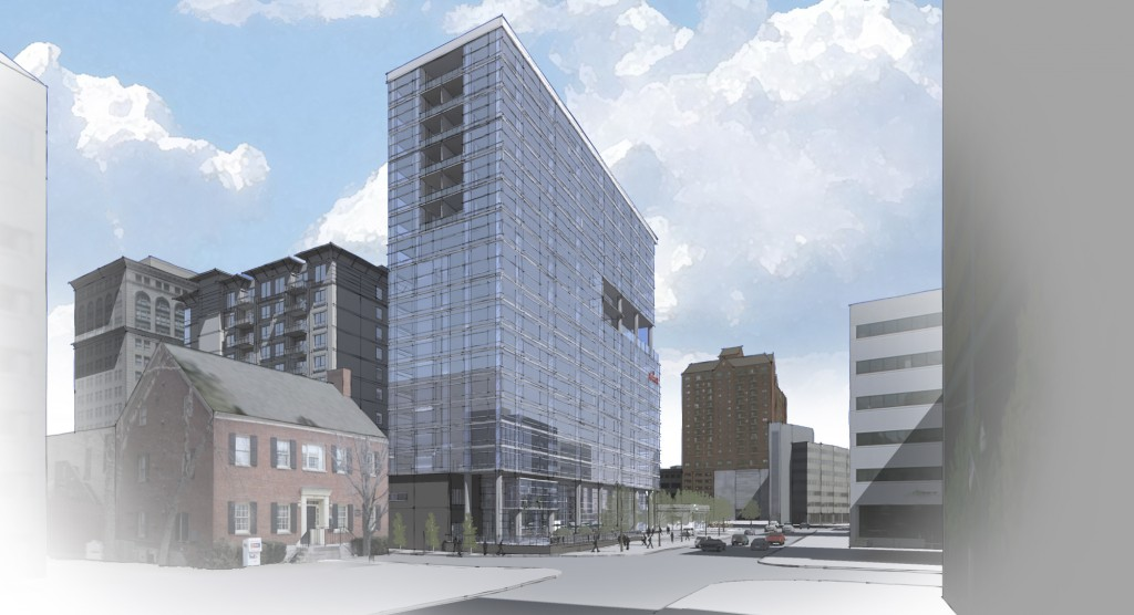 New artist rendering of CentrePointe project in downtown Lexington released 9-12-17