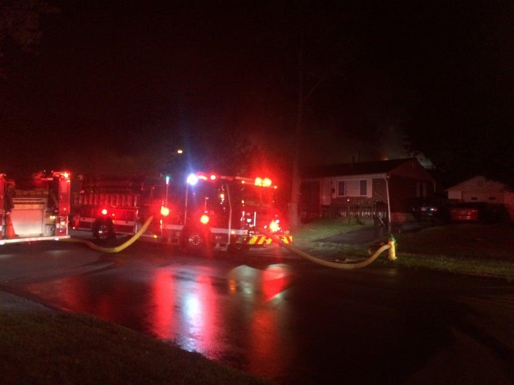House fire on Keeneland Court in Lexington 7-22-17