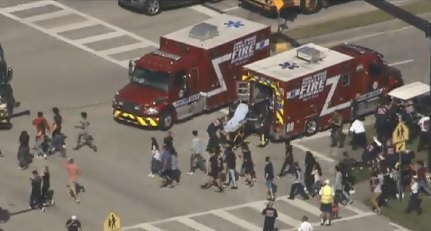 Authorities are responding to a school shooting in Parkland