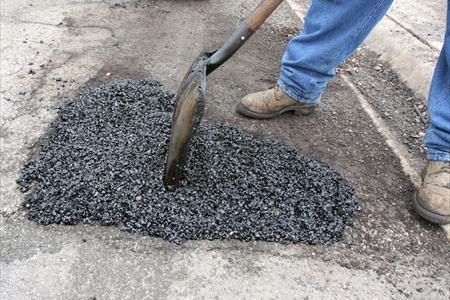 Pothole repair work going on Monday