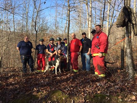 Hunting dog rescued from vertical shaft 65-feet deep in Rockcastle County - Mount Vernon Fire Department and Brodhead Fire Department