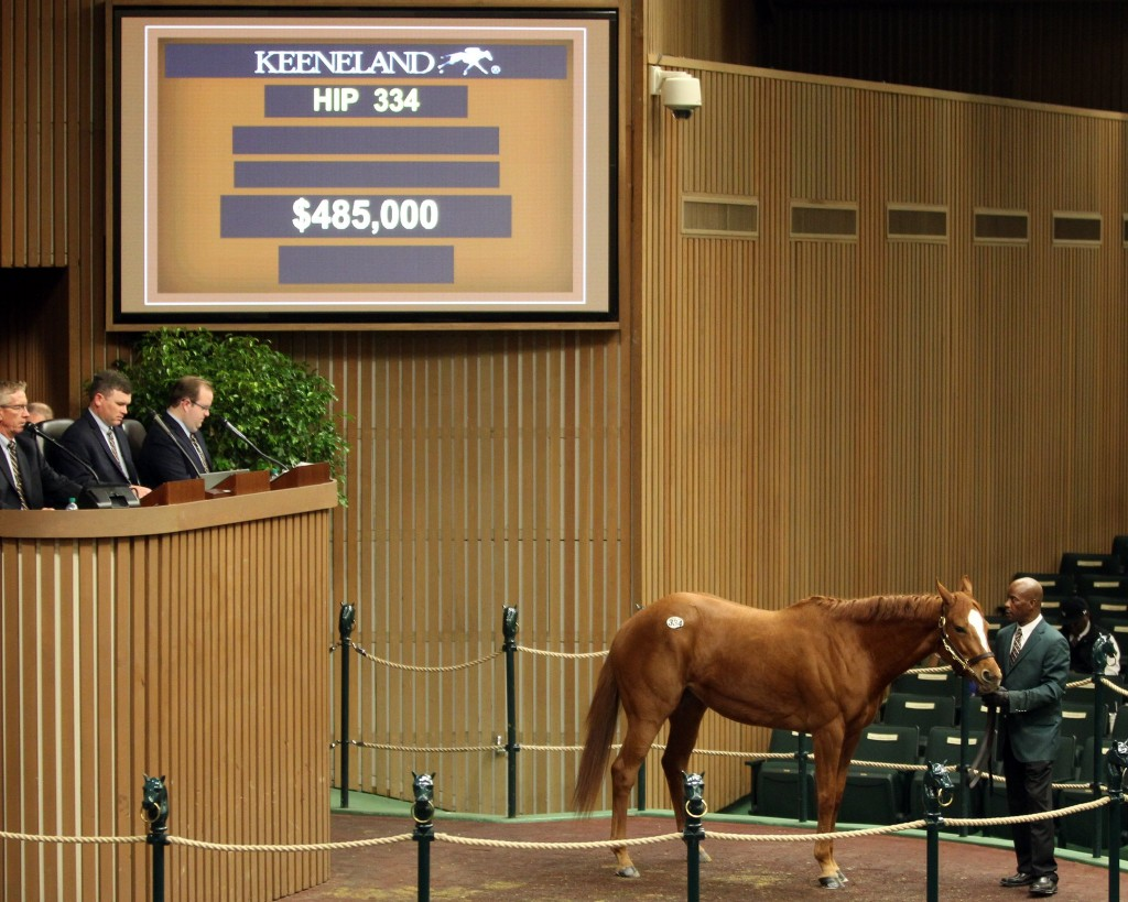 Bellavais tops opening day of Keeneland's January Horses of All Ages Sale 1-8-18