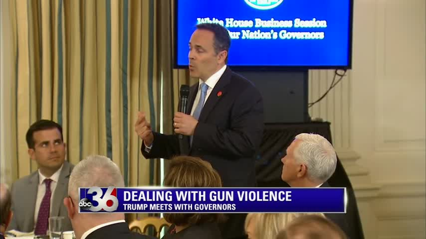 Governor Bevin at the White House 2-26-18 with other governors meeting with President Trump to talk about recent school shootings and how to prevent them in the future
