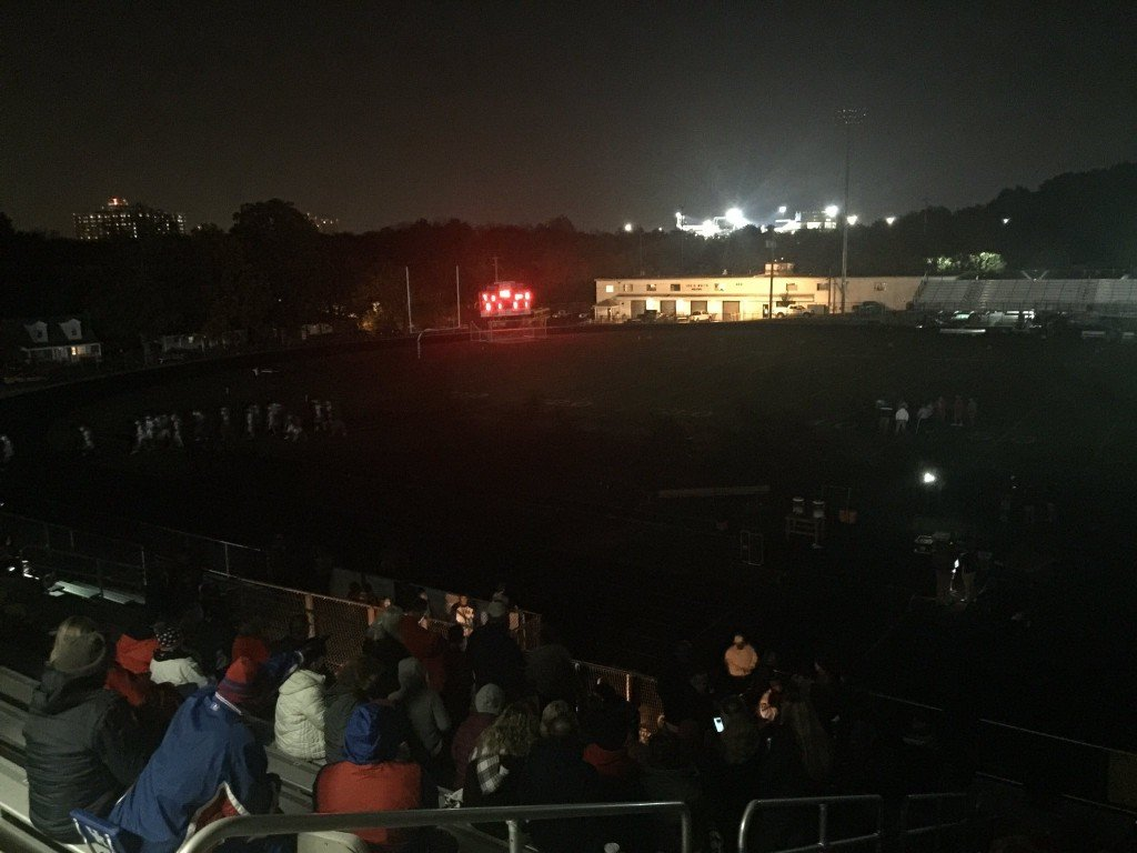 Transformer fire knocks out power at Lafayette High's Ishmael Stadium during football playoff game against Butler 11-4-16