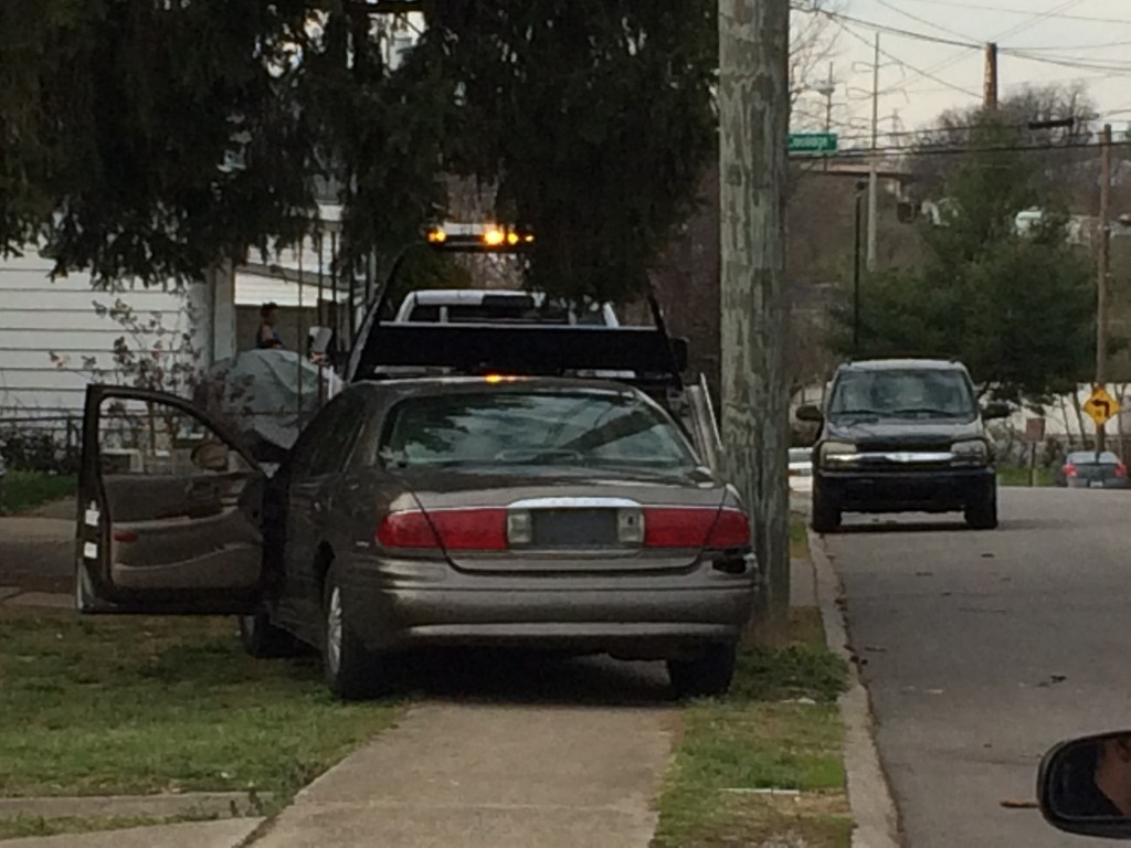 Lexington Police say driver found lying in yard with a beer after crashing into pole on Robertson Street 3-23-17