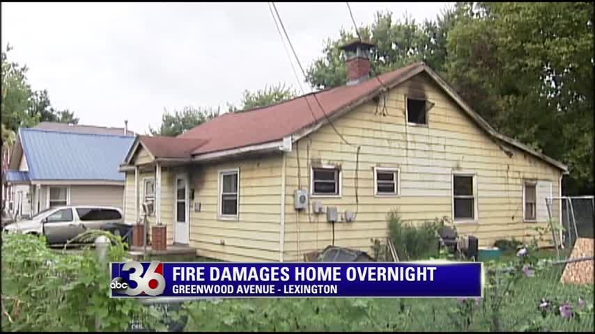 Greenwood Avenue house fire in Lexington 8-21-16