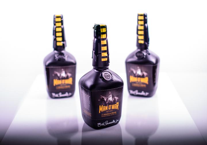 Maker's Mark Man o' War Celebration collectible bottles for benefit dinner at Kentucky Horse Park 11-4-17