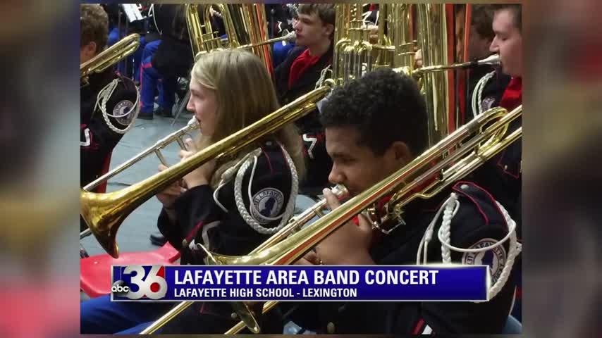 Lafayette Area Band Concert at Lafayette High School in Lexington 12-13-17