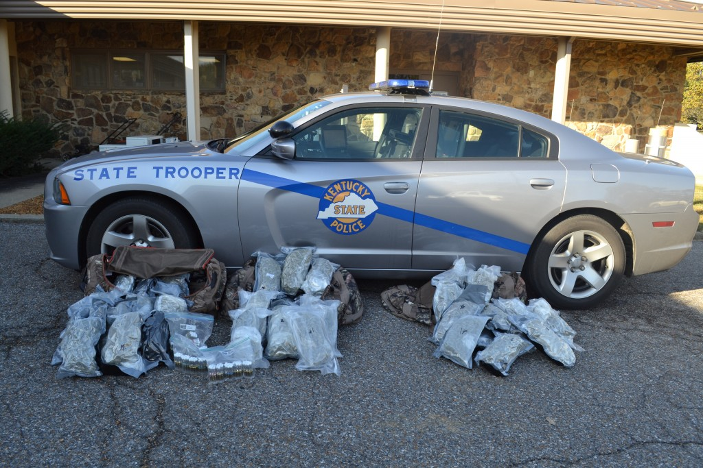 53-pounds of marijuana confiscated during traffic stop on I-24 in Lyon County 10-24-16 by State Police