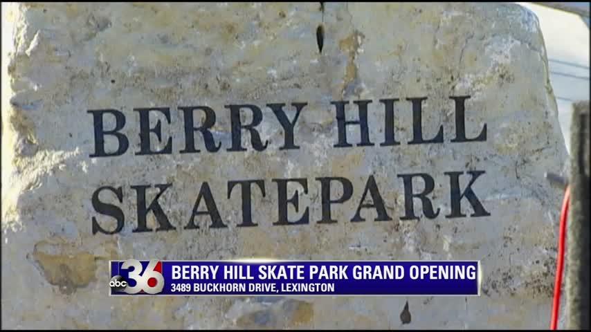 Berry Hill Skatepark on Buckhorn Drive in Lexington officially opens 11-12-15
