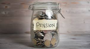 Pension money in jar