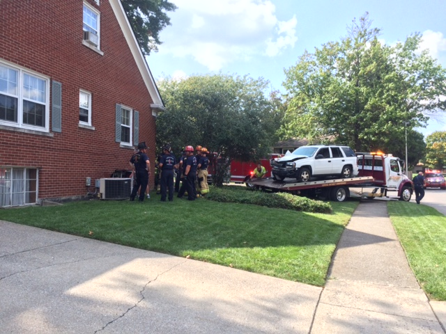 SUV crashed into home on Hunter Circle in Lexington after driver had seizure 9-22-17