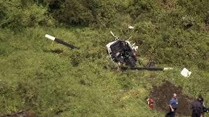 Troy Gentry helicopter crash scene in Medford