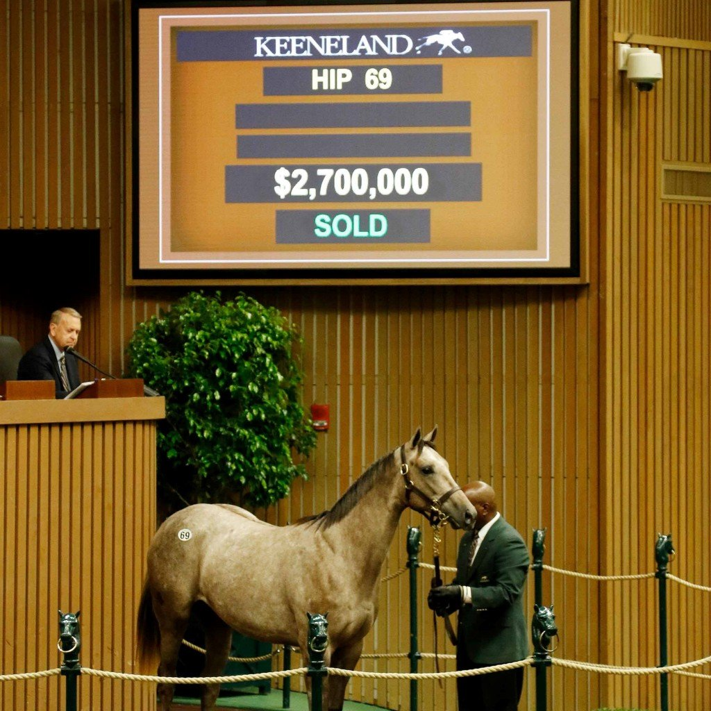 Tapit filly sells for $2.7 million to top opening day of Keeneland's September Yearling Sale 9-11-17