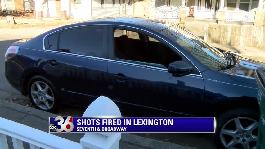 Car riddled with bullet holes and window shot out found on Twelfth Street in Lexington after shootout between people in two cars at Seventh and North Broadway 12-27-17
