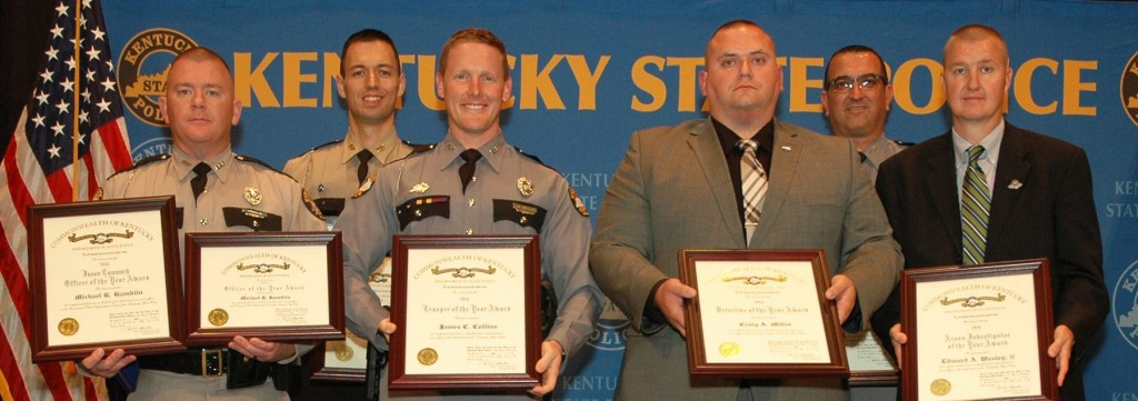 Kentucky State Police troopers and CVE officers are honored at awards ceremony 7-21-17