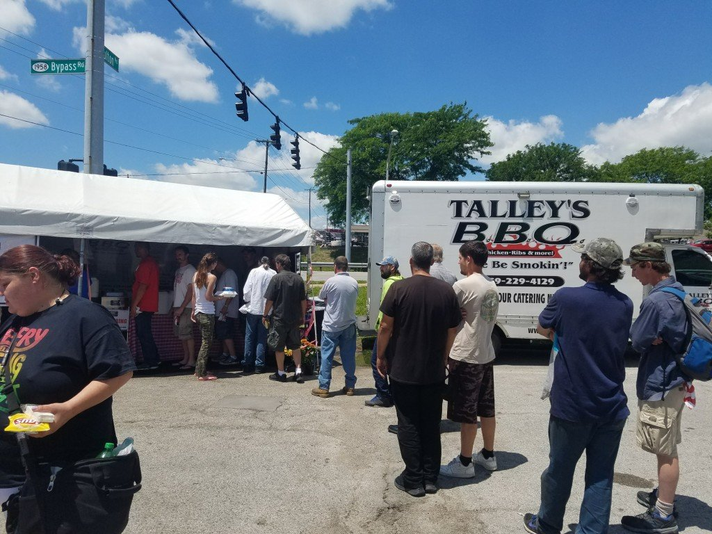 Chef Love Talley feeds the homeless from the Beacon of Hope shelter of Winchester 6-6-17