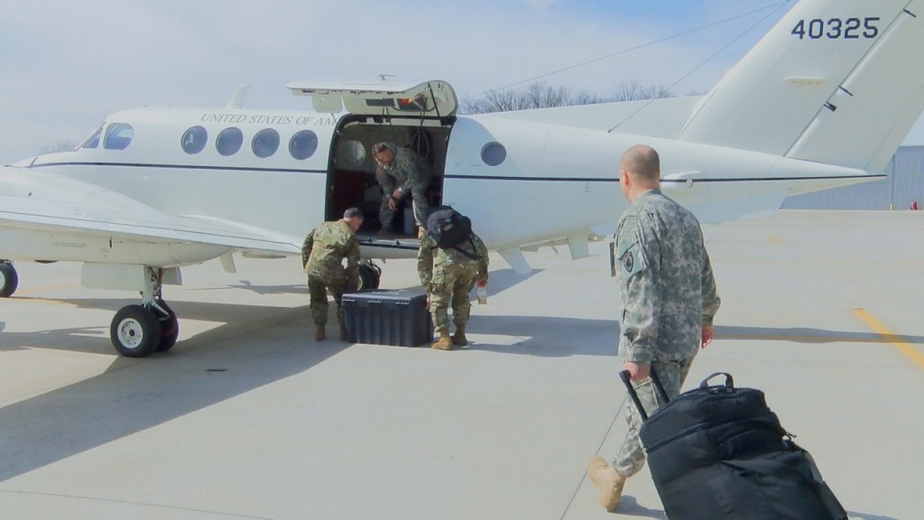 7 Kentucky Army National Guard aviators deployed to the Middle East.