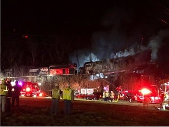 Trains collide in Georgetown