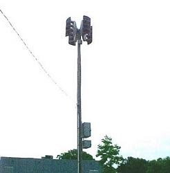 Outdoor warning siren in Lexington.