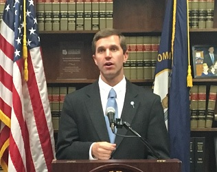 Attorney General Andy Beshear talking about 5th lawsuit filed against pharmaceutical company.