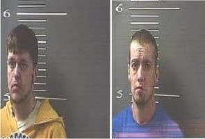 Brian Olson (left) and Jeremy Boggs (right) both of Sandy Hook in Elliott County