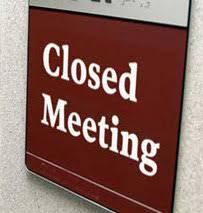 Closed Meeting sign (generic)