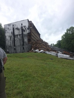 Warehouse collapses