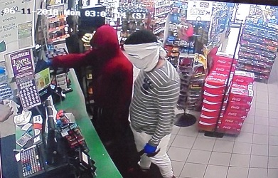 Attempted robbery at Triple R Mart BP in Frankfort.