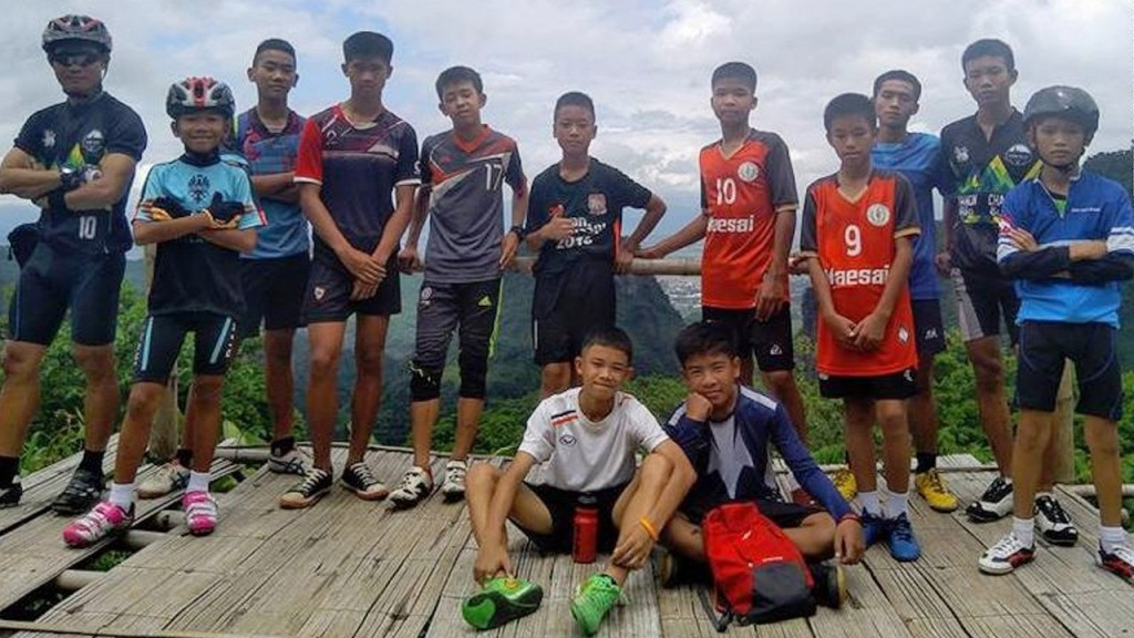 Boys soccer team trapped in cave in Thailand.