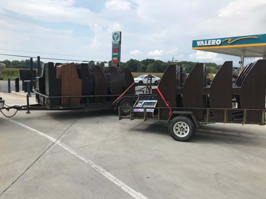 Investigators seized 21 illegal gambling machines from four businesses.