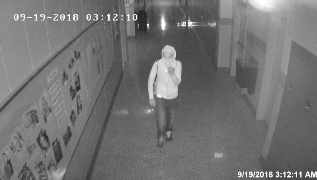 Burglary suspect at Danville High School.