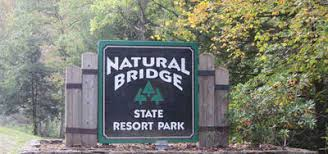 Natural Bridge State Resort Park sign