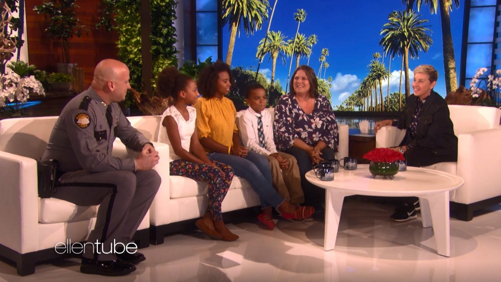 KSP trooper and NJ mom who stopped school attack appear on Ellen.