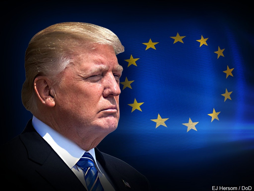 President Trump with EU Flag MGN Online