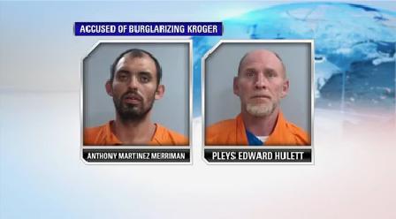 Accused of burglarizing Kroger