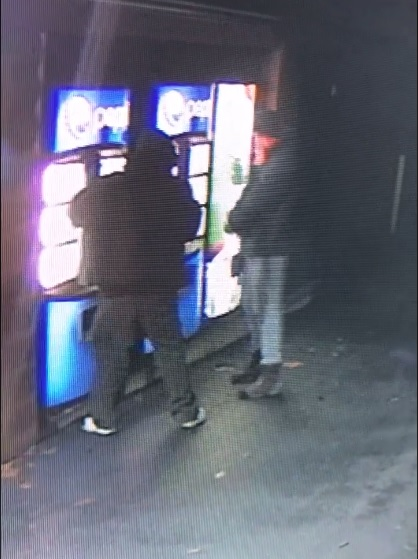 Suspects caught on video vandalizing  soda machines at the Natural Bridge Skylift.