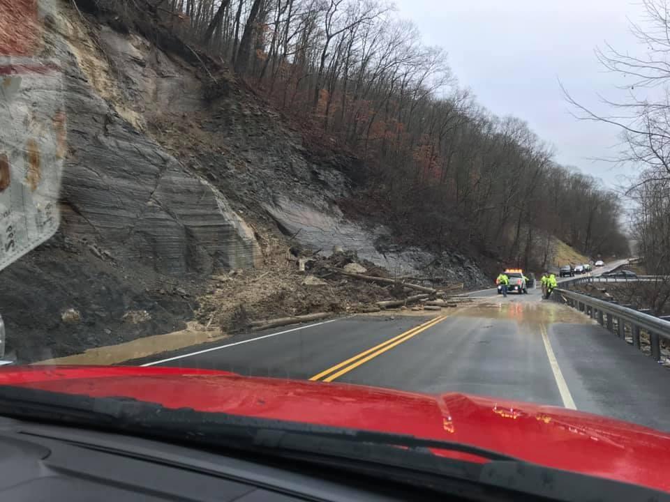 Rockslide in Harlan Countyy