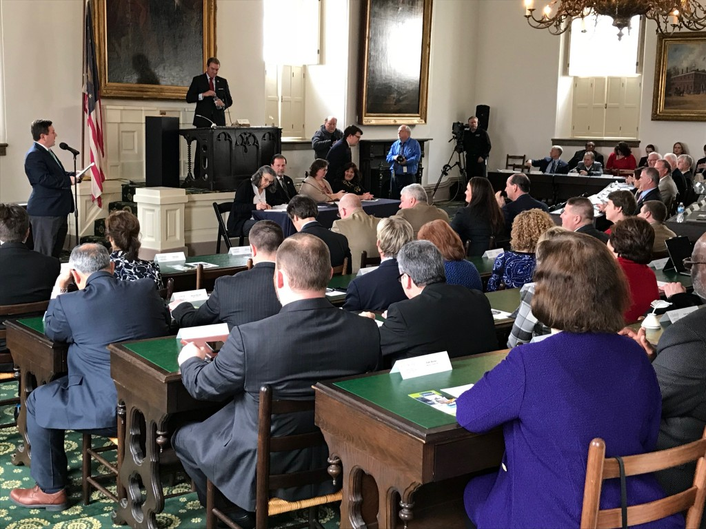 State lawmakers convene at the Old State Capitol in Frankfort 2-19-19