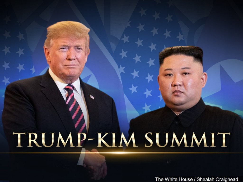 President Donald Trump meets with North Korean Leader Kim Jong-un in Hanoi